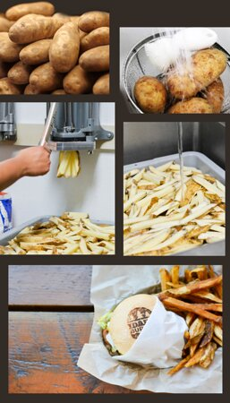 We make our own fries daily!