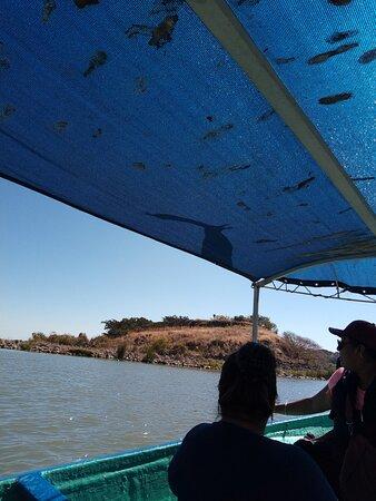 Mezcala, Mexico: Llegando a la isla!!