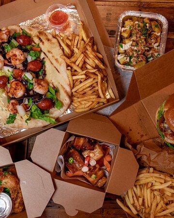Ossett, UK: pizza kebab, and tapas