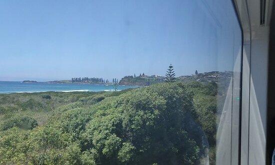 Bombo Beach, Kiama from Train