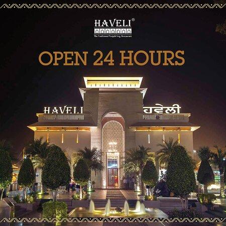 We are at your service, 24 Hours! Come visit us to experience the authentic taste of Punjab. . . . #punjabifood #murthal #punjabivirsa #highway #foodlove #haveli #happiness #delhifoodie #delhifoodguide #bestfood #bestfoodintown #delhi #foodie