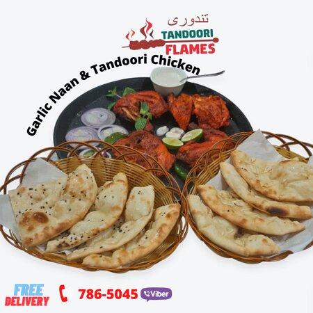 Tandoori Chicken with Garlic Naan