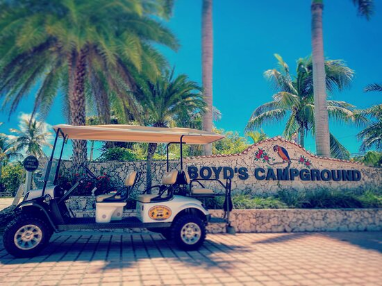 golf cart rental at Boyds RV campground right down the street on Stock Island
