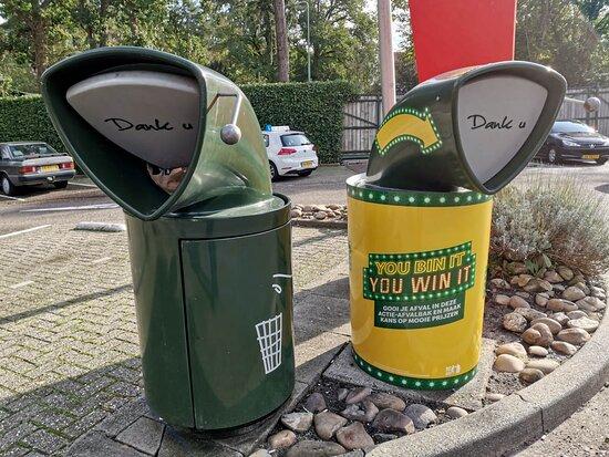 the garbage bin