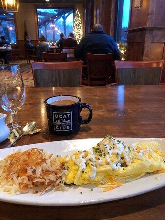 """""""standard"""" Montana cuisine- Elk Omlet"""