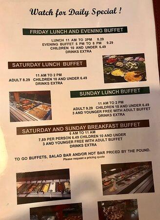 Osawatomie, KS: Buffet options