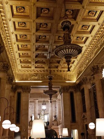 This is a historic bank building that has been converted into a fine dining establishment!  It could easily be the set of a movie!!  Eat here and transport yourself into the richness of film.