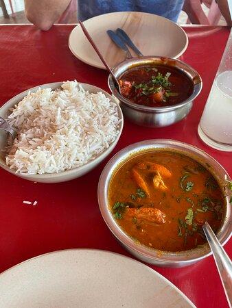 Goan prawn curry and Chicken Vindaloo