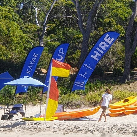 Meelup Beach Hire set up on the beach for your convenience
