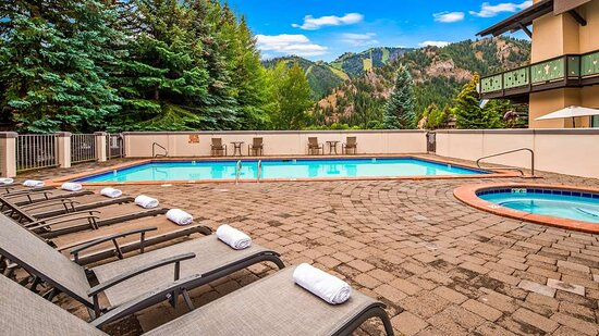 Mountain View from our Outdoor Heated Saline Pool and Hot Tub