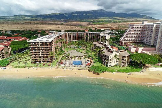 Aston Kaanapali Shores - Aerial of Property and Beach
