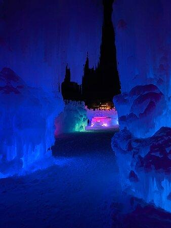 Nighttime Ice Castle pics