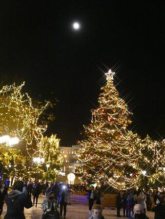 Athens, Greece: Xmas tree, Ath-GR