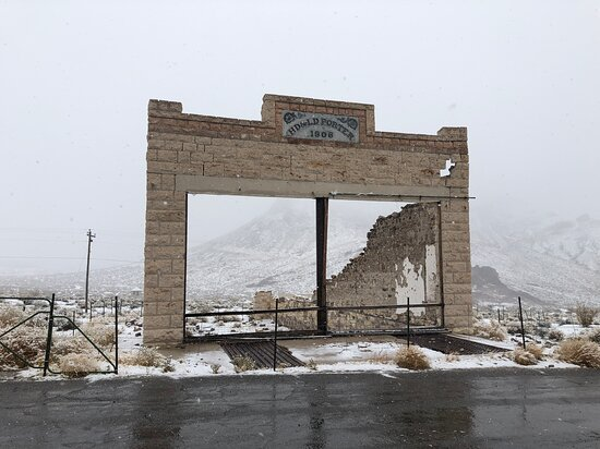 Building ruin at Rhyolite Ghost Town