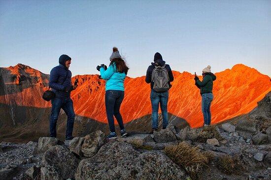 Nevado de Toluca sunrise and Monarch...