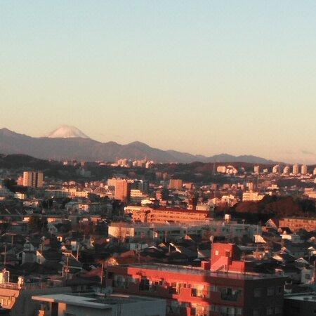 Chofu, Nhật Bản: Happy New Year😊 The sunrise🌄 of New Year's day & Mt Fuji. 初日の出と富士山(調布市からの景色)2021