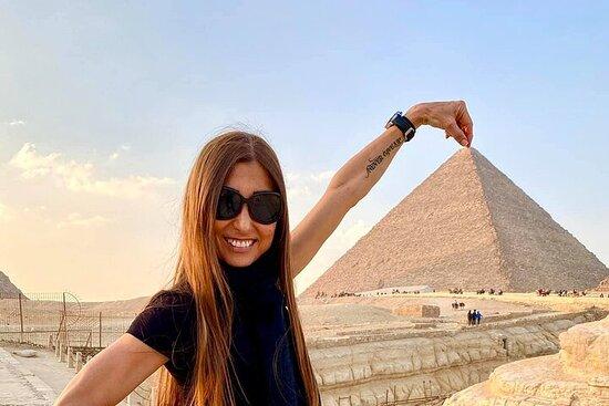 layover transitt Cairo tur til Giza...