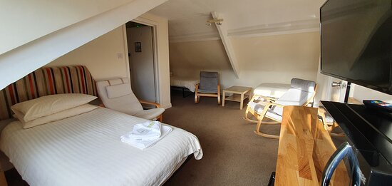 One of our rooms newly fitted with microwave and fridge to aid safe and independent stay