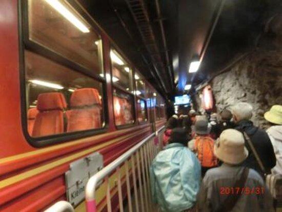 Jungfraujoch-Top of Europe train ticket: ユングフラウヨッホ駅