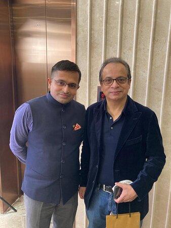 Biswajit With Abhik Sengupta- GM, Taj Skyline