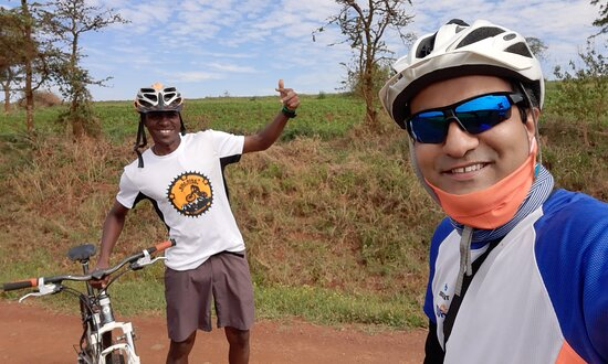 West Kilimanjaro cycling Adventures: My guide George..