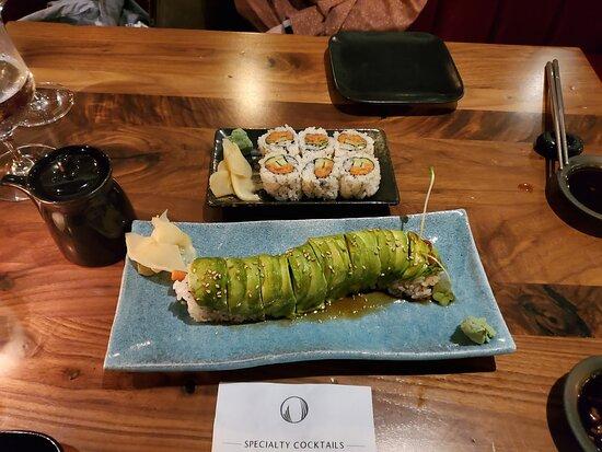 Spicy Tuna Roll & Hungry Caterpillar Roll