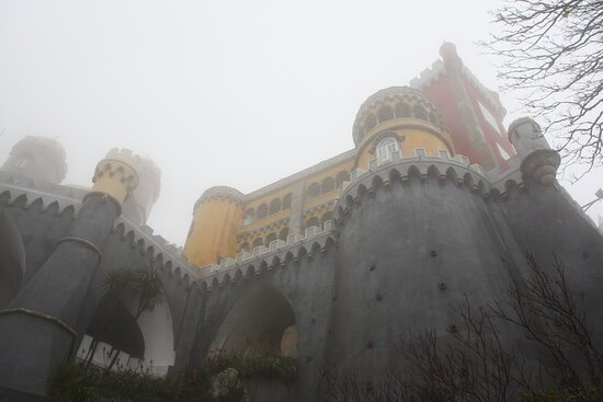 Pena Palace in the fog.