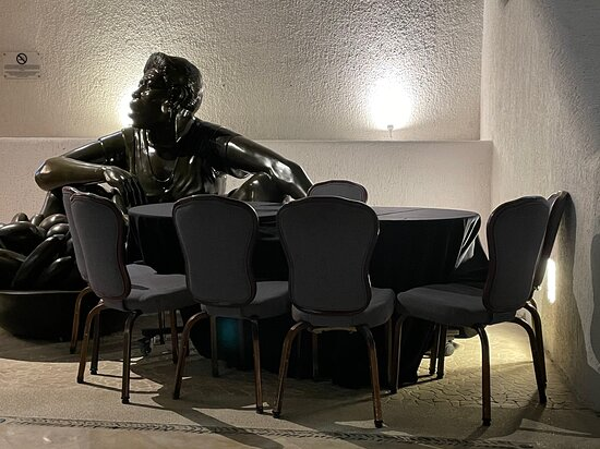 Casino night, with chairs touching each other