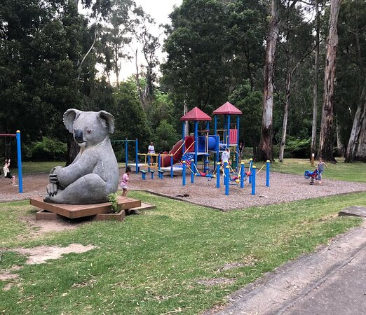 The playground at the front of the park.