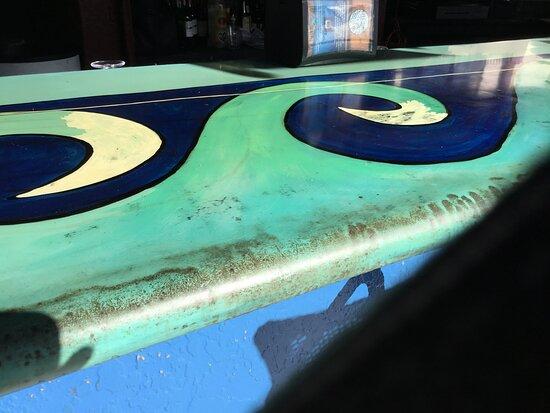 Tiki bar counter