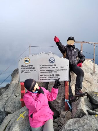 Reaching Low's Peak, the highest peak of Mount Kinabalu successfully on the new year's day, on the early morning of January 1, 2021.