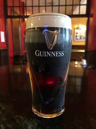 This is a real picture of one of many Guinness at end of the day.