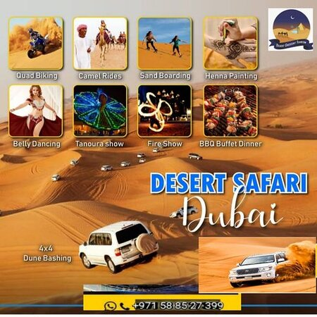 Let's Enjoy This New Year In Desert Safari Dubai🚘🐪🍀 🚘Land Cruiser Dune Bashing 💃Belly Dance Shows 🔥Double Fire Shows 🕺🏽Tanoura Shows 🌋Egyptian Shows 🐪Camel Ride 🏄Sand Boarding  Water,Soft drinks,Tea & Coffee ☕️Hot Beverages 🍿Free Snacks 🍴BBQ Buffet Dinner Veg & Non-Veg ✋Henna Tattoo for Ladies  📞WhatsApp or Call :+971 568466756