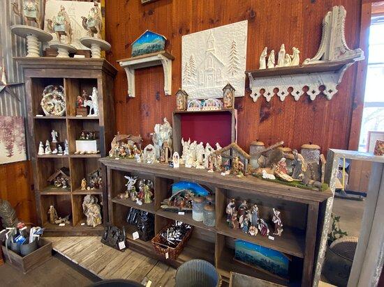 Linvilla Orchards nativity scenes in the garden center