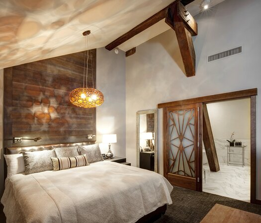 The top three floors of Union Station have been transformed into stunningly unique rooms by the Crawford Hotel.