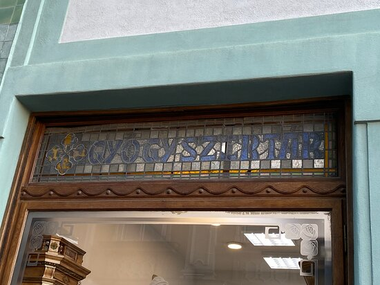 sign of a pharmacy (in Hungarian) - preserved ...