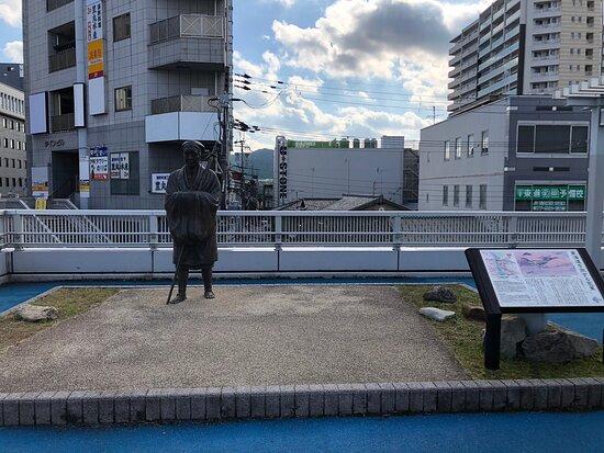 Statue of Basho traveling Tokaido