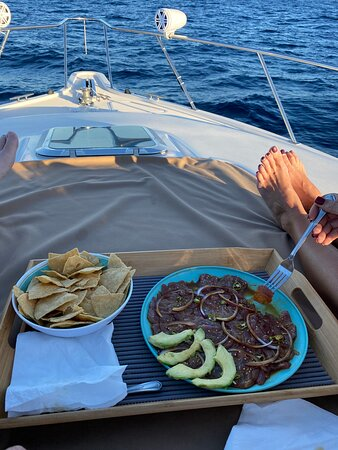 Private Sunset Cruise- 2 Person, 3 Hours: Best Tuna Sashimi we've had yet.