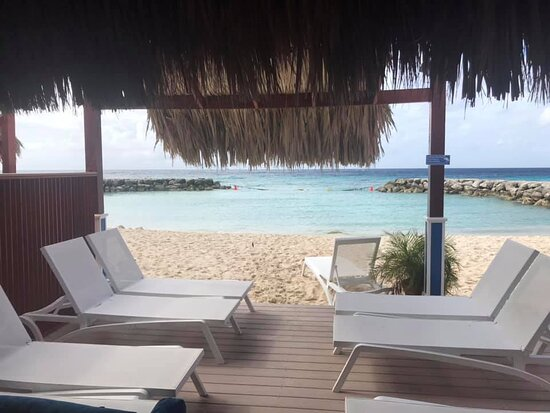 Aruba: View from our private cabana