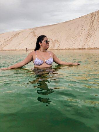 Nível da água das lagoas em Atins