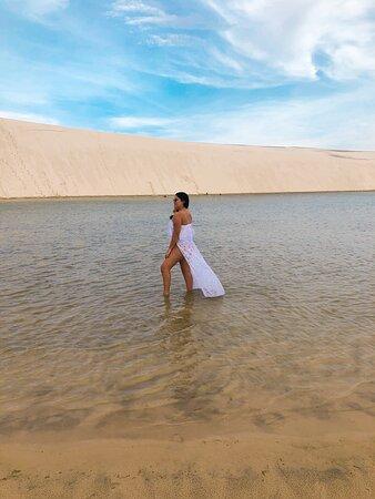 Atins, MA: Em tempo de estiagem da chuva, as lagoas dão uma leve secada