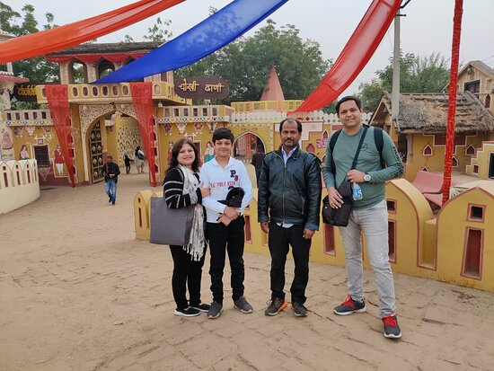Rajasthan Private Tour By Car: With our Driver Ganesh Nath at Chokhi Dhani @ Jaipur, Rajasthan