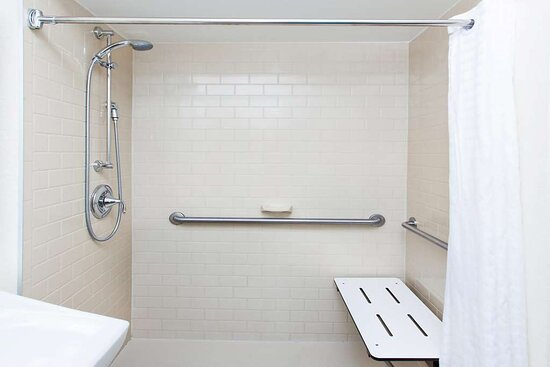 Accessible Guest Room Suite Bathroom Roll In Shower