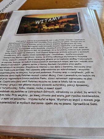 Ustrzyki Górne, Polska: MENU