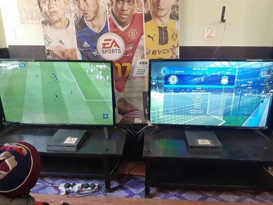 Mirage gaming house playstation xbox game zone cafe lounge video game kathmandu nepal