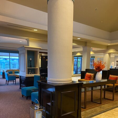 Great spot to stay-    Hotel is clean, the staff is super friendly, and the location is great.  The breakfast is great and the service is impeccable.  Make sure to add your Hilton Honors loyalty program.  It's a great perk.