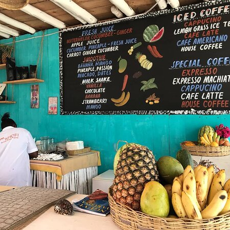 Smoothies, juices, and coffee drinks