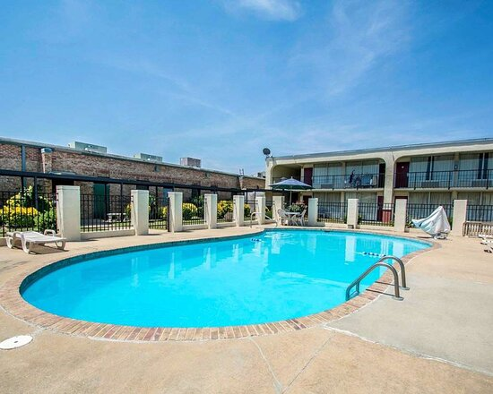 Outdoor pool with sundeck