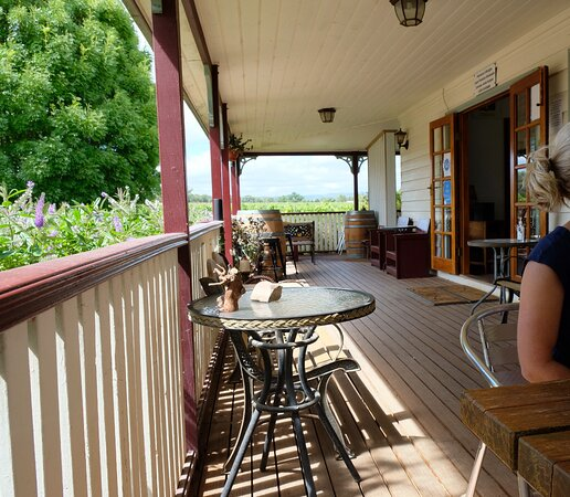 We were given a table on the verandah