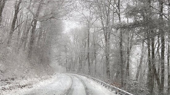 Snowy Day at Scaly Mountain Outdoor Center, NC